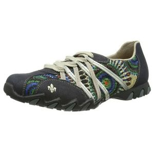 Rieker Navy Silver Hiking Walking Shoes